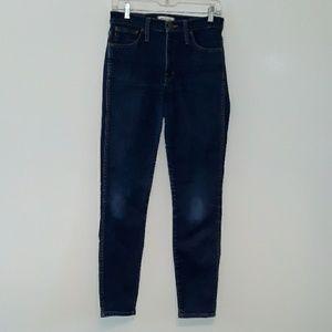 Madewell skinny high rise jeans